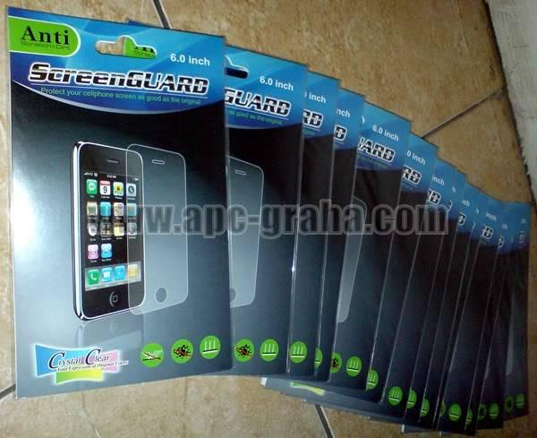 Jual Casing Aksesoris Handphone Termurah SCRGUARDCRYSTALCLEARUNIVERSAL6
