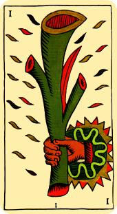 La vía del Tarot. por Alejandro Jodorowski Tarot-marsella-bastos-as