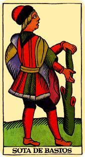 La vía del Tarot. por Alejandro Jodorowski Tarot-marsella-bastos-sota