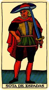 La vía del Tarot. por Alejandro Jodorowski Tarot-marsella-espadas-sota