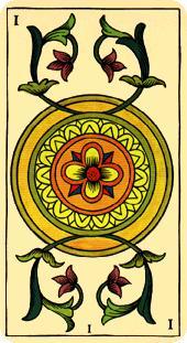 La vía del Tarot. por Alejandro Jodorowski Tarot-marsella-oros-as