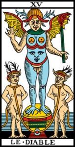 La vía del Tarot. por Alejandro Jodorowski Eldiablo-153x300