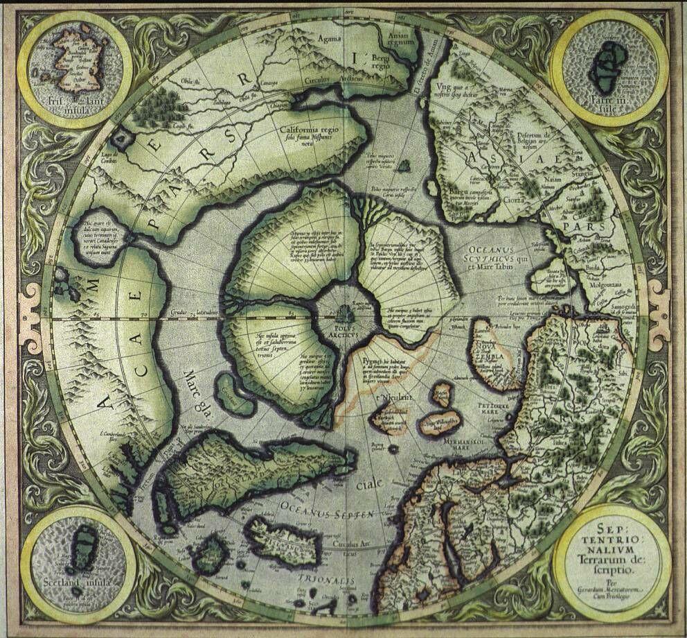 Hiperbórea. Es el origen de la humanidad? Hiperborea-hyperborea-mapa-polo-norte