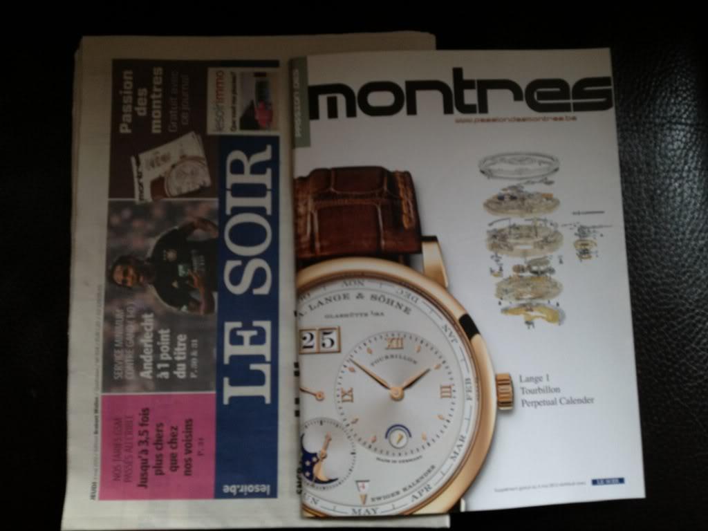 """Supplément """"passion des montres"""" dans le journal """"Le Soir"""" de ce jeudi 03/05 992e1f9b"""
