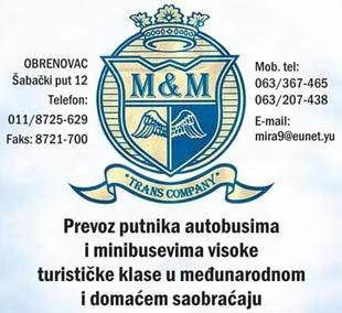 M&M trans company - Obrenovac 207102