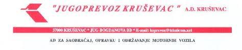 Jugoprevoz Kruševac Jugoprevozk