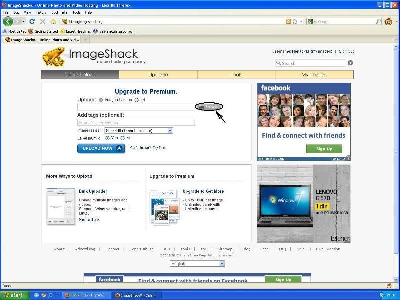 Uputstvo za postavljanje slika - Imageshack Imageshack1