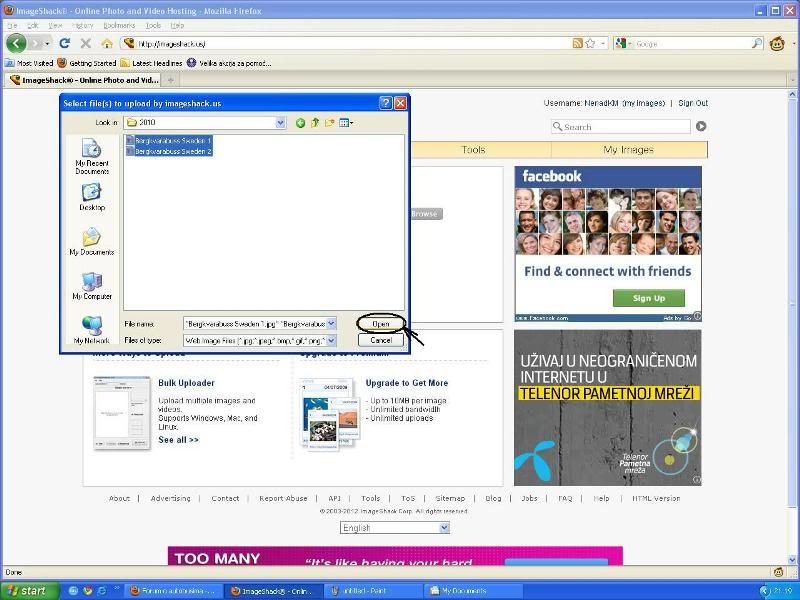 Uputstvo za postavljanje slika - Imageshack Imageshack2