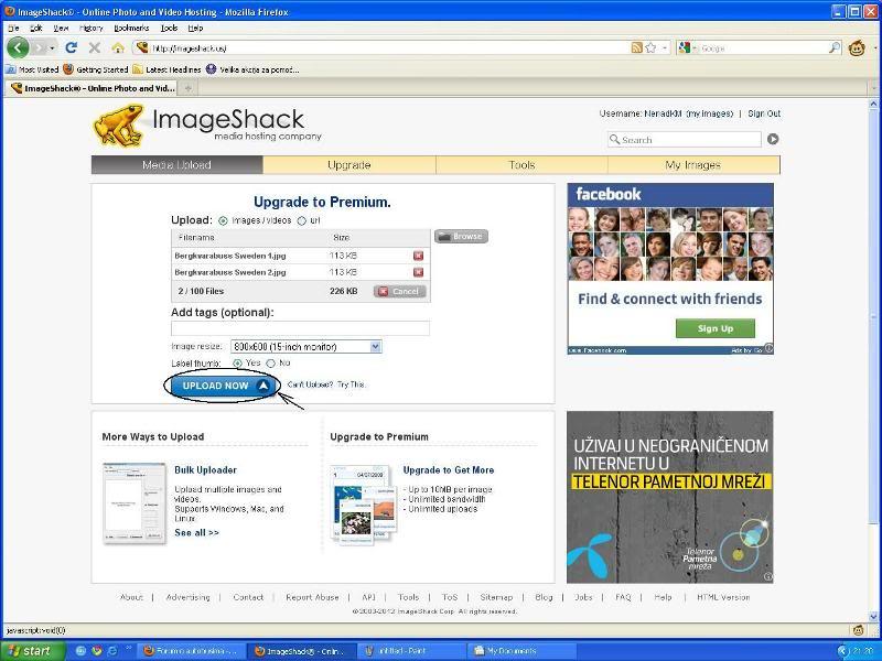 Uputstvo za postavljanje slika - Imageshack Imageshack3