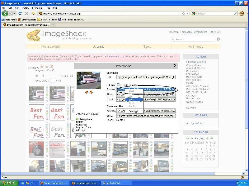 Uputstvo za postavljanje slika - Imageshack Imageshack5