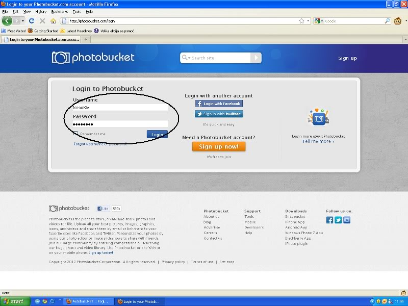Uputstvo za postavljanje slika - Photobucket Photobucket