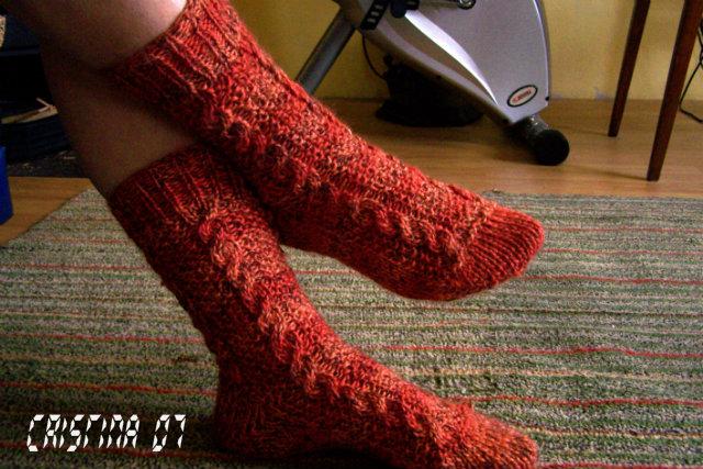 Provocare tricotat nr. 1 - Şosete, botoşei, jambiere. - Pagina 4 Sosete2