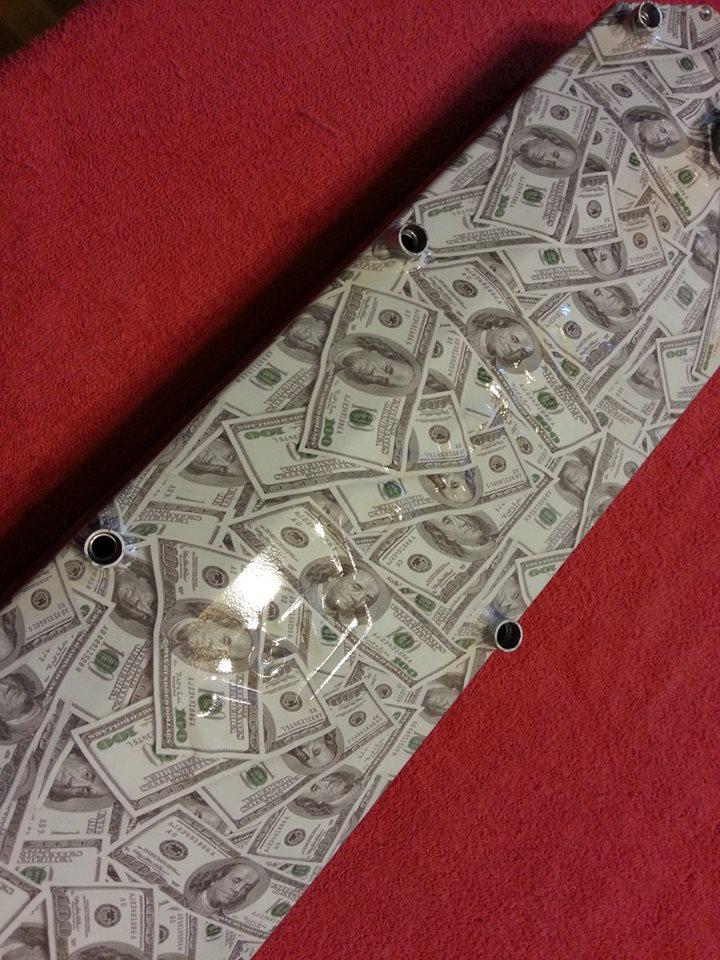 Trick Flow sheet metal V/C's 100 dollar bill Hydrodipped!!! Dip_zps64e44cd5