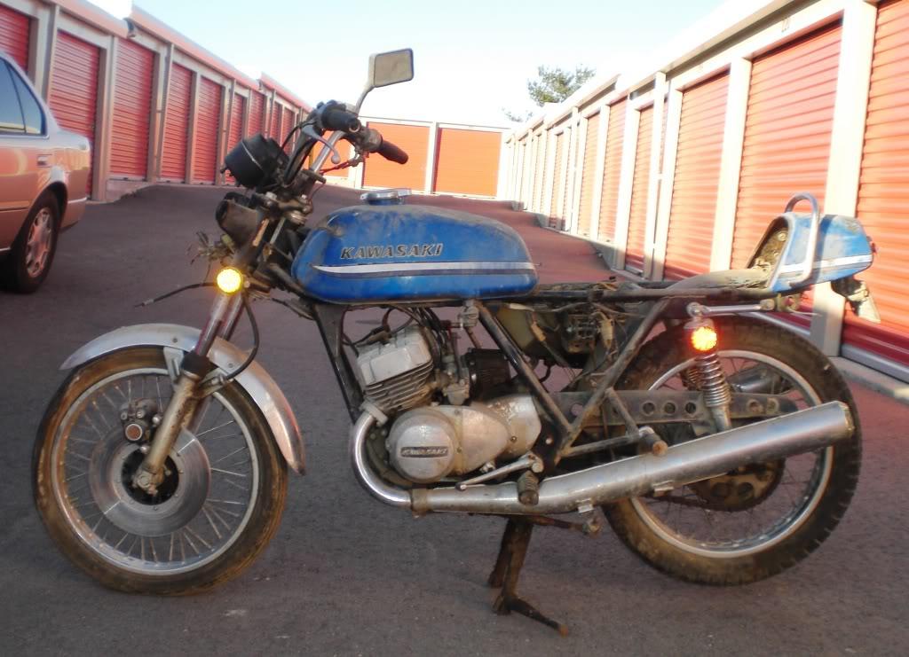 """1973 Kawasaki S2A 350 Triple - """"Barn Fresh"""" CopyofCIMG1484"""