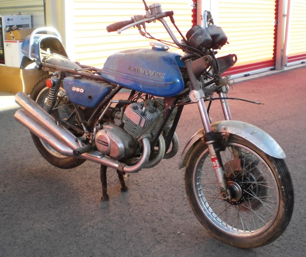 """1973 Kawasaki S2A 350 Triple - """"Barn Fresh"""" CopyofCIMG1486"""