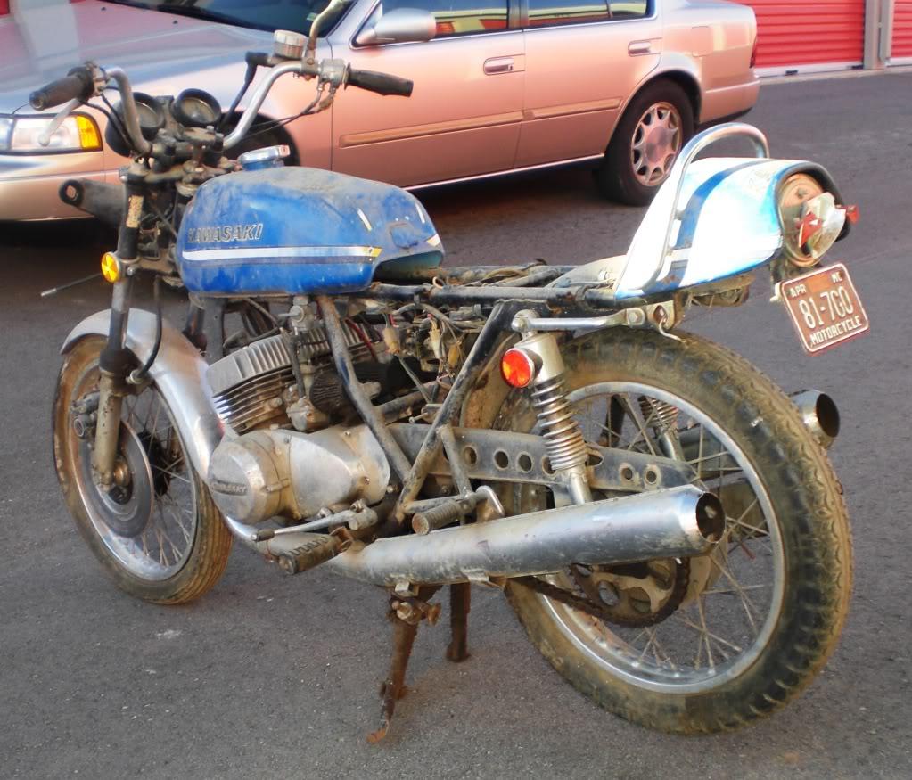 """1973 Kawasaki S2A 350 Triple - """"Barn Fresh"""" CopyofCIMG1488"""