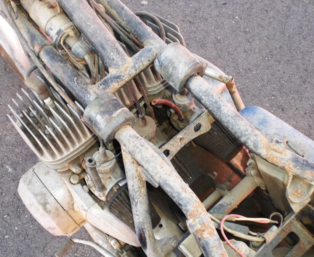"""1973 Kawasaki S2A 350 Triple - """"Barn Fresh"""" CopyofCIMG1490"""