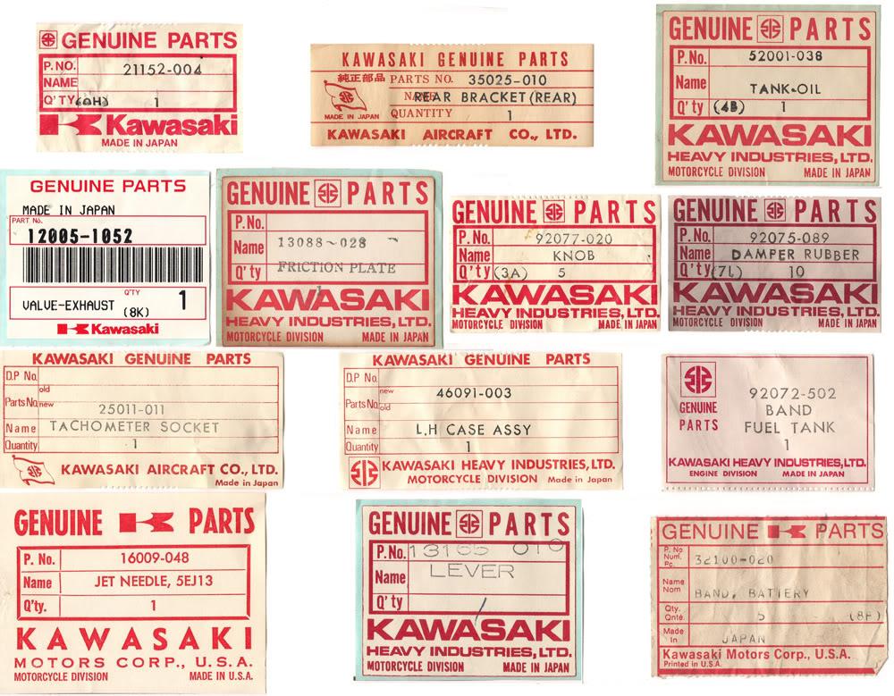 Kawasaki Parts Labels KawasakiLabelscopySmall