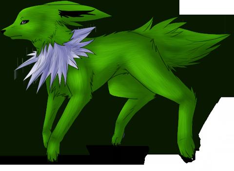Salama the Neon Green Superhero Jolteon   inactive SalResize