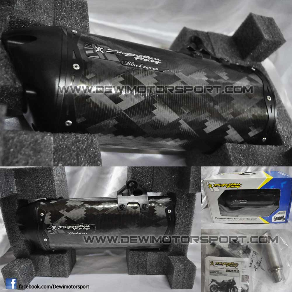 Jual Cepat, 2 Brothers Racing USA VALE Black Sries Slip On Ninja 250 Full Carbon 2-broth-VALE