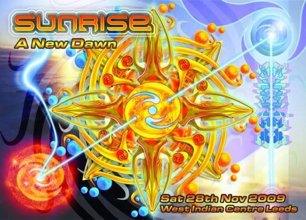 28/11/09 – SUNRISE….A New Dawn @ West Indian Centre. Leeds Sunrisefront