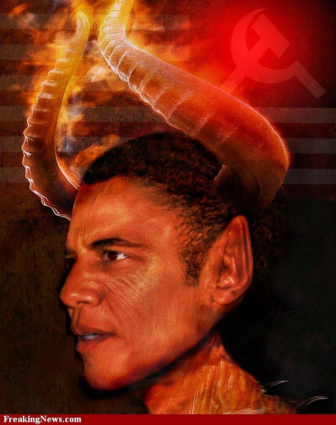 FASCISME, DICTATURE, ETAT-POLICIER, TERRORISME D'ETAT - Page 5 Barack-Obama-The-Demon--58252