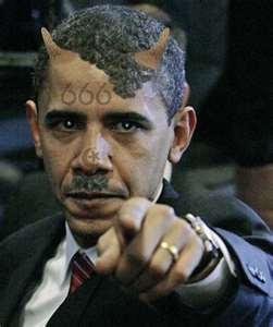 2012 : PUCES IMPLANTABLES, RFID, NANOTECHNOLOGIES, NEUROSCIENCES, N.B.I.C., TRANSHUMANISME  ET CYBERNETIQUE ! - Page 4 Obamaantichristsonofsatan