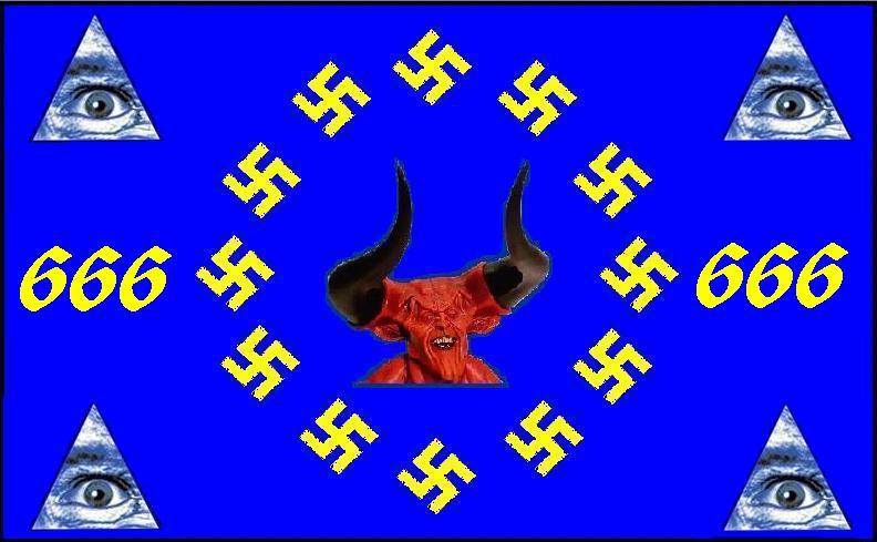 2012 : PUCES IMPLANTABLES, RFID, NANOTECHNOLOGIES, NEUROSCIENCES, N.B.I.C., TRANSHUMANISME  ET CYBERNETIQUE ! - Page 4 UE_drapeau_NWO_Dmon_666