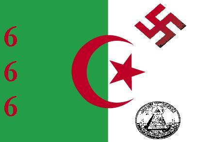 2013-2016 : 666, PUCES IMPLANTABLES, RFID, NANOTECHNOLOGIES, NEUROSCIENCES, N.B.I.C., TRANSHUMANISME ET CYBERNETIQUE ! - Page 2 Algerie-drapeau-evil_zps94ba942a