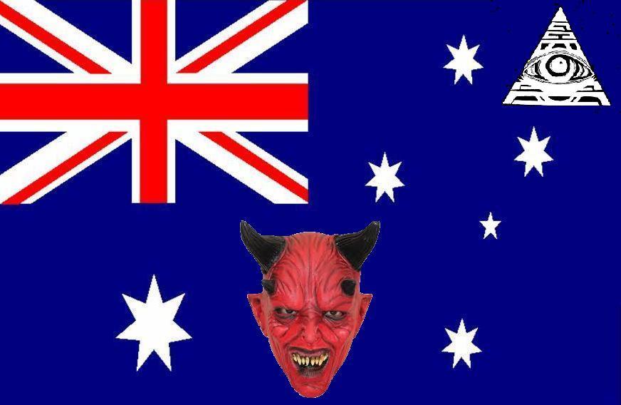 NOUVEL ORDRE MONDIAL : DE QUOI SE COMPOSE-T-IL, ET QUELS SONT SES BUTS ? - Page 25 Australian-flag-satan_zpsbae7529f