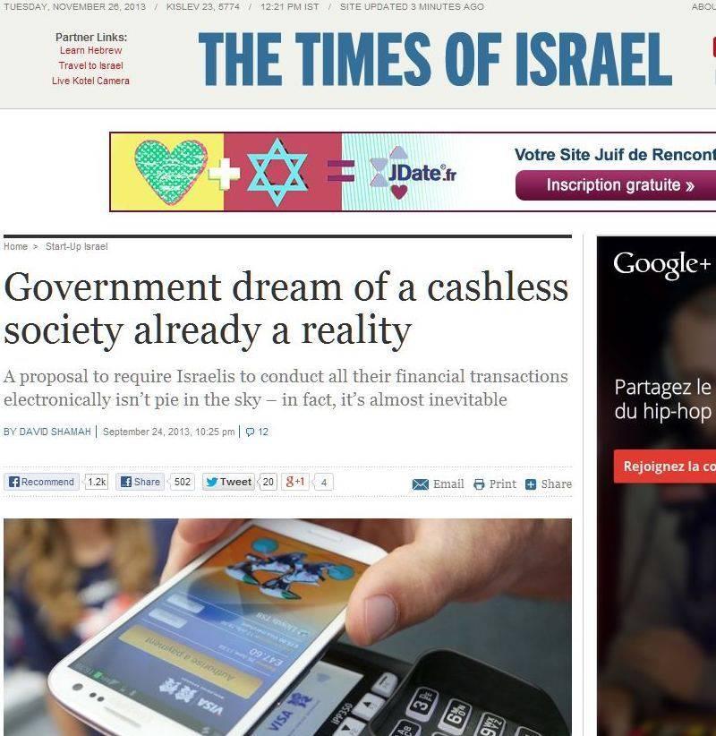2013-2016 : 666, PUCES IMPLANTABLES, RFID, NANOTECHNOLOGIES, NEUROSCIENCES, N.B.I.C., TRANSHUMANISME ET CYBERNETIQUE ! - Page 4 Times-of-israel_zps8bb0bed3