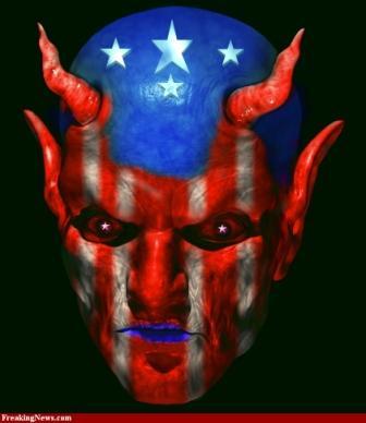 NOUVEL ORDRE MONDIAL : DE QUOI SE COMPOSE-T-IL, ET QUELS SONT SES BUTS ? - Page 26 Lucifer-With-American-Flag-Face-small_zps7d803172