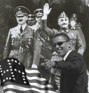 FASCISME, DICTATURE, ETAT-POLICIER, TERRORISME D'ETAT - Page 5 Obama-nazi-hitler
