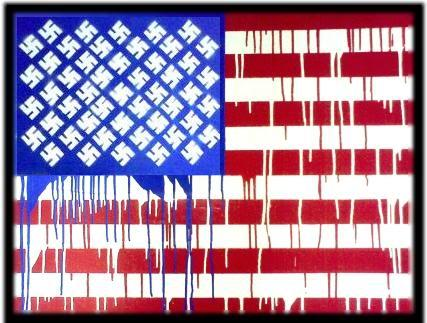 FASCISME, DICTATURE, ETAT-POLICIER, TERRORISME D'ETAT - Page 6 Usa-nazi-flag