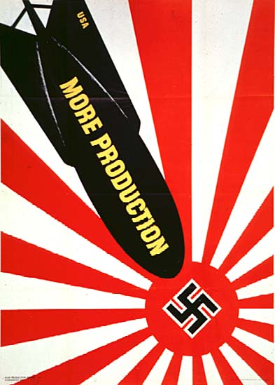 DEPOPULATION VIA LA TECHNOLOGIE NUCLEAIRE - Page 2 US-bomb-dropping-on-Japanese-Nazi-flag-poster-color_zps786cb1b4