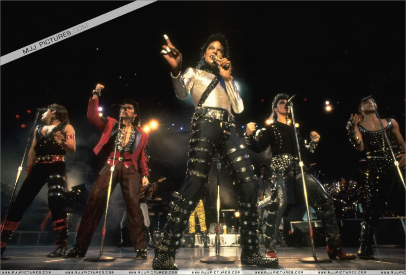 Bad World Tour Onstage- Various 138-1