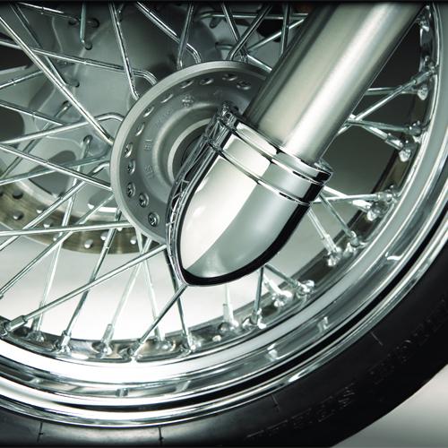Chrome Fork End Cover Mod -  Suzuki C800 / C50 Forkends