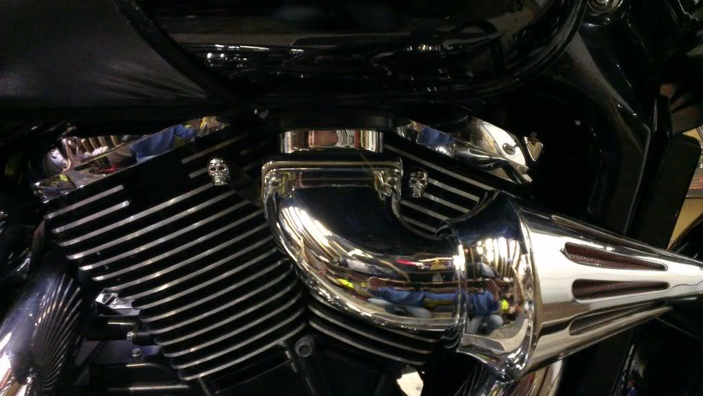 Chromed Spiked Cone Air Filter From Suzuki M109 - C800 Conversion Skullfilt