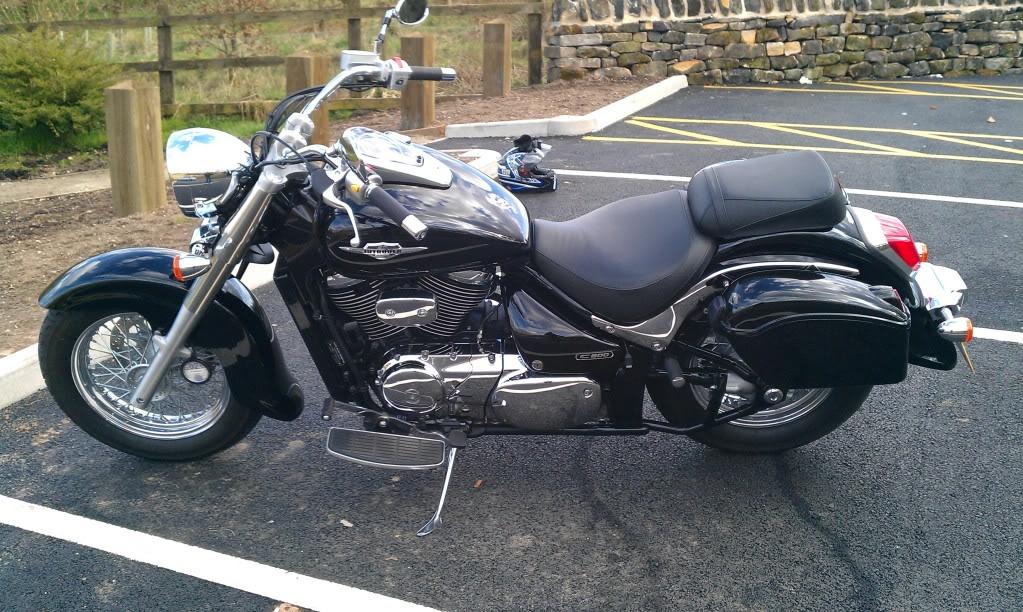 my bikes Vl800panniersleft