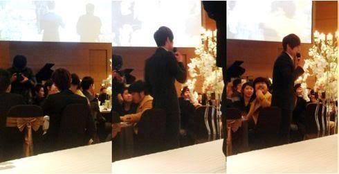 Kim Hyun Joong, Heo Young Saeng, Kim Kyu Jong y Kim Hyung Jun en la boda del CEO de B2M Entertainment Kil Jong-Hwa 03hj1