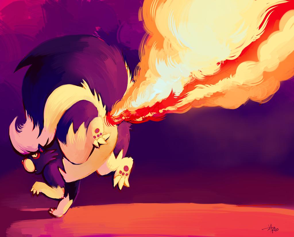 Fun Fun Fun  Skuntank_used_Flamethrower_by_purplekecleon
