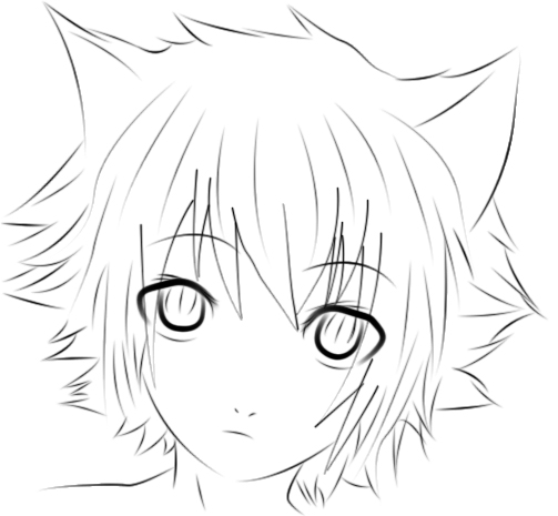 Troys Triumph Neko_boy_photoshop_lineart__d_by_voctavian85-d4zm0ab