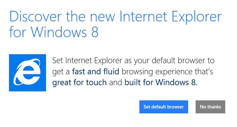 Microsoft No Longer Supporting XP - Ends April 8, 2014 Win8IEscreenshot