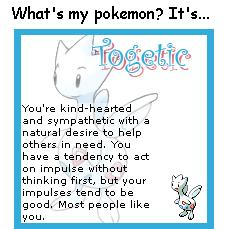 What Pokémon are you? (post here) Togetic