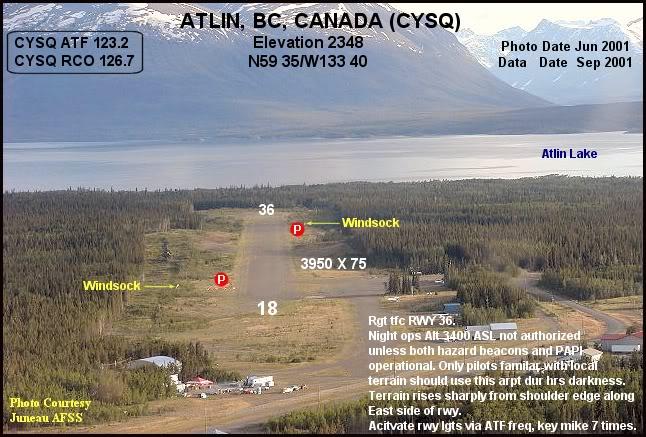 """Fs9"" Aproximação Atlin .... Alaska CYSQ-a"