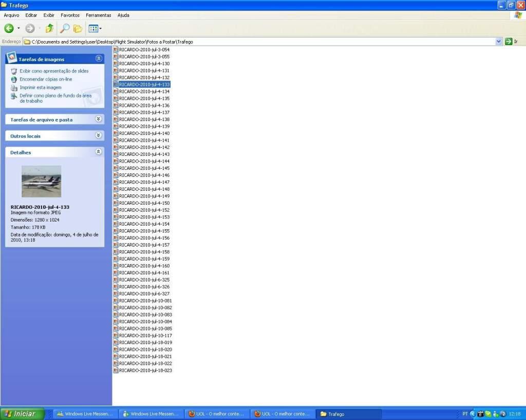 Aprenda a Postar Screens nos Foruns aqui do VooVirtual RICARDO-2011-jan-9-002