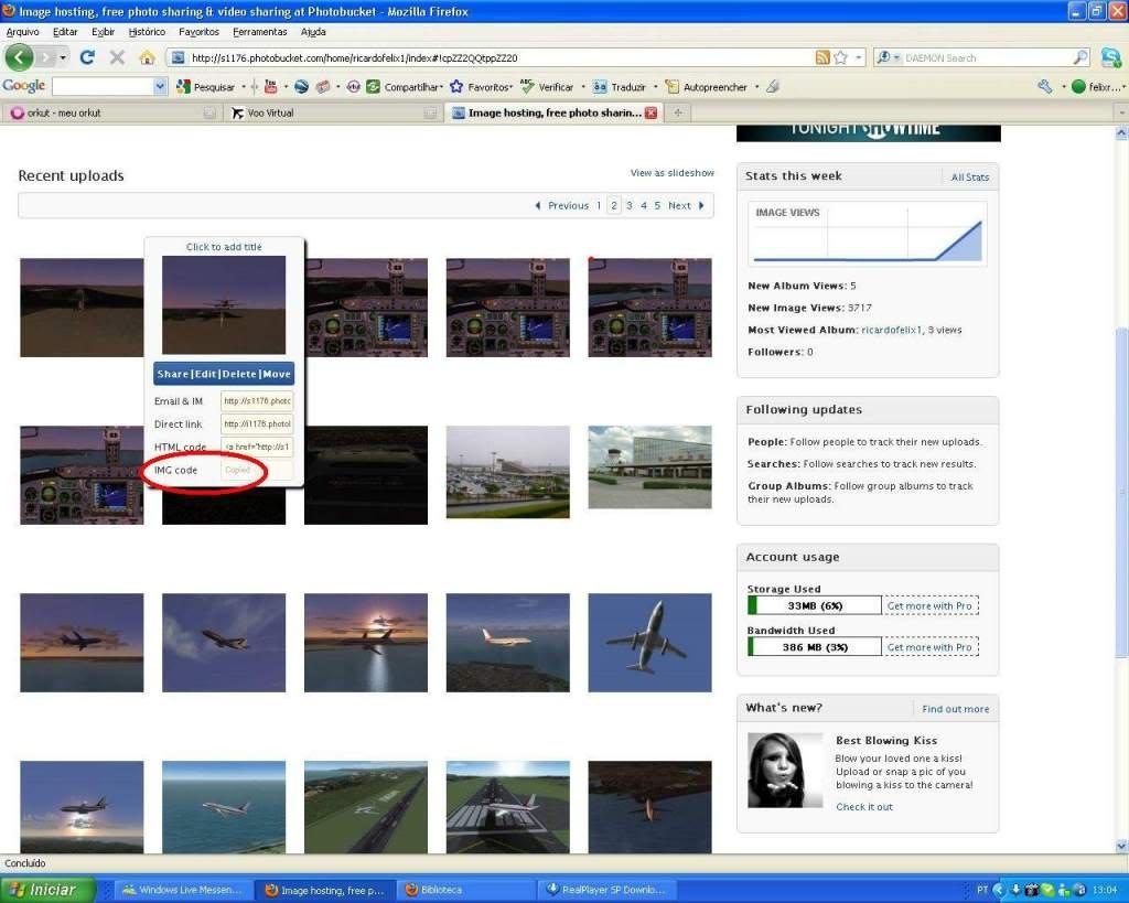 Aprenda a Postar Screens nos Foruns aqui do VooVirtual RICARDO-2011-jan-9-016