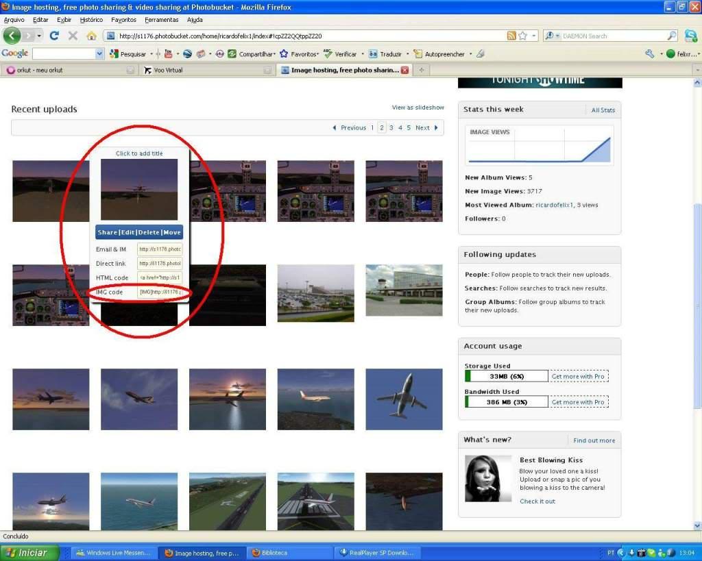 Aprenda a Postar Screens nos Foruns aqui do VooVirtual RICARDO-2011-jan-9-017