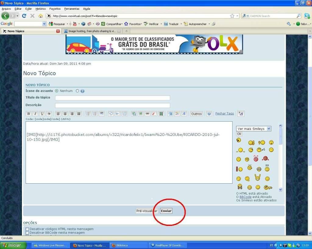 Aprenda a Postar Screens nos Foruns aqui do VooVirtual RICARDO-2011-jan-9-021