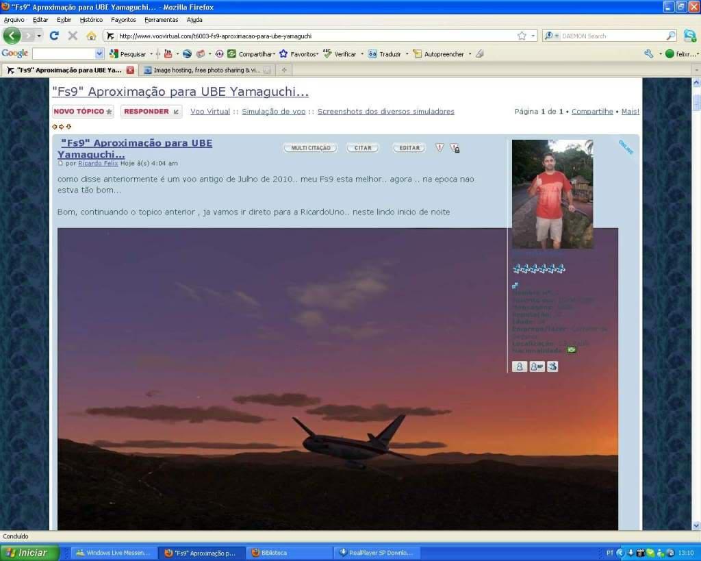 Aprenda a Postar Screens nos Foruns aqui do VooVirtual RICARDO-2011-jan-9-022